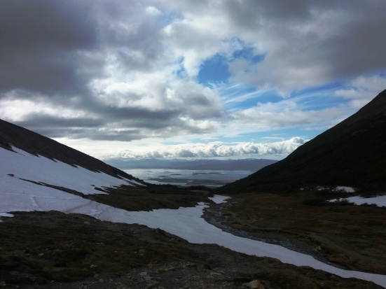 Glaciar Martial vista
