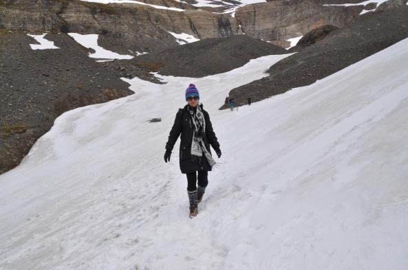 glaciar trilha neve